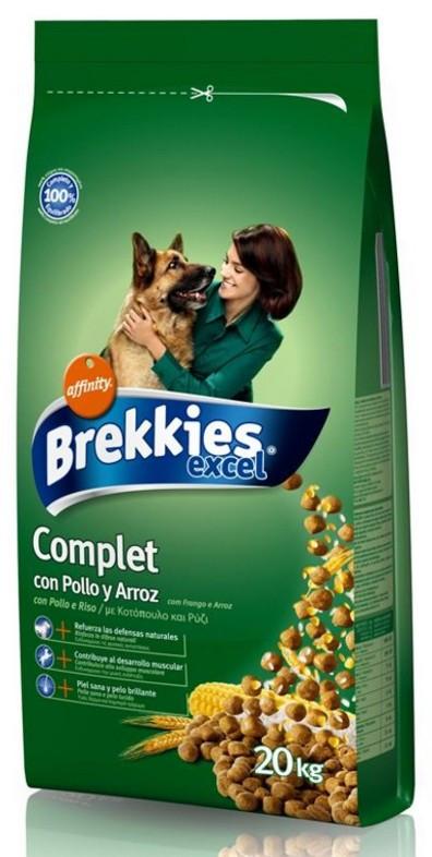 Brekkies Adult Complet Chicken (Бреккис комплит) сухой корм для взрослых собак с курицей 20 кг