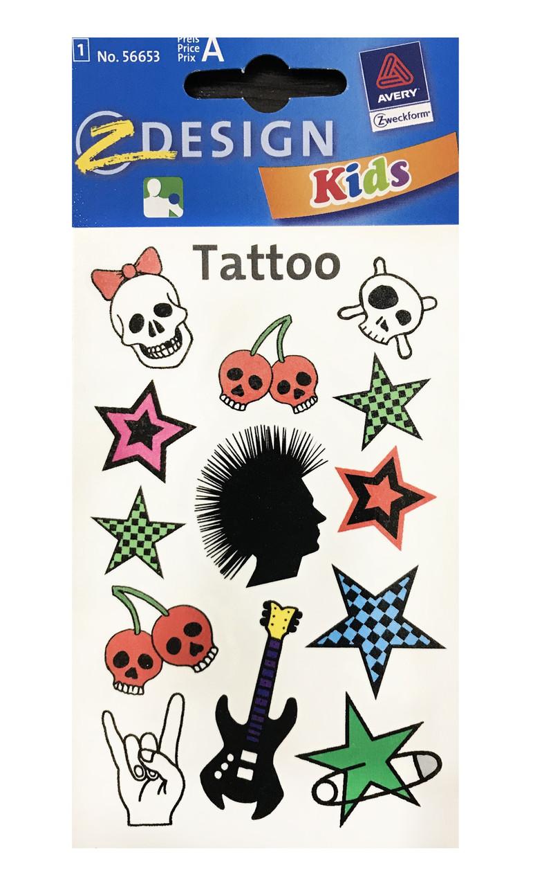 Татуировки с ассорти изабражениями