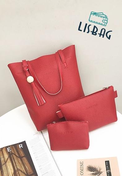 86c324c10cd2 Женский элегантный набор сумок 3 в 1 красного цвета : продажа, цена ...