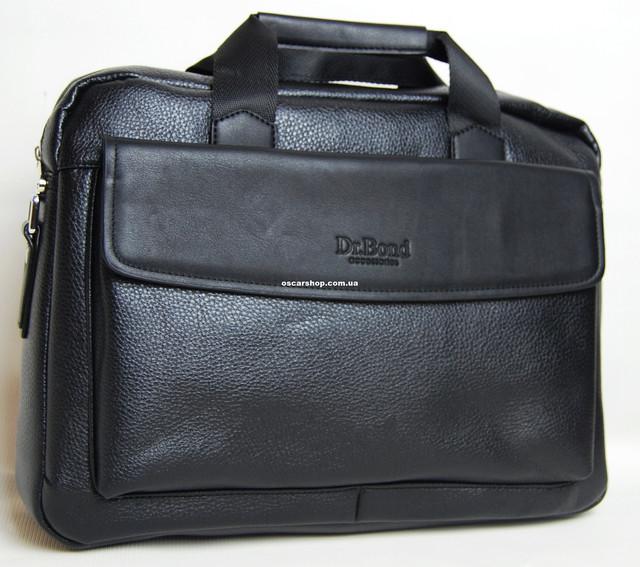 2be541e3cd41 Кожаная мужская сумка под ноутбук Dr. Bond. Мужской портфель для ...
