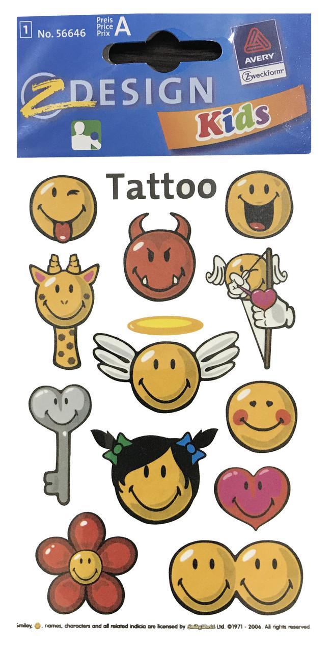 Татуировки со смайликами