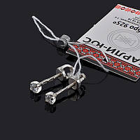 Маленькие серебряные серьги-пусеты с камушком