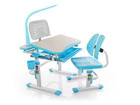 Комплект Evo-kids стул+стол+полка+лампа Evo-05 BL