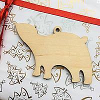 Высечка деревянная Медведь полярный 10*8см фанера