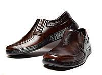 Туфли-Мокасины мужские в коричневом цвете