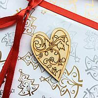 Высечка деревянная Сердце 4*5см 044w фанера