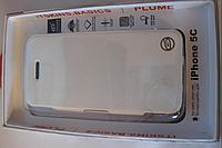 Чехол ITSKINS Plume Artificial iPhone 5C White/Black, фото 1