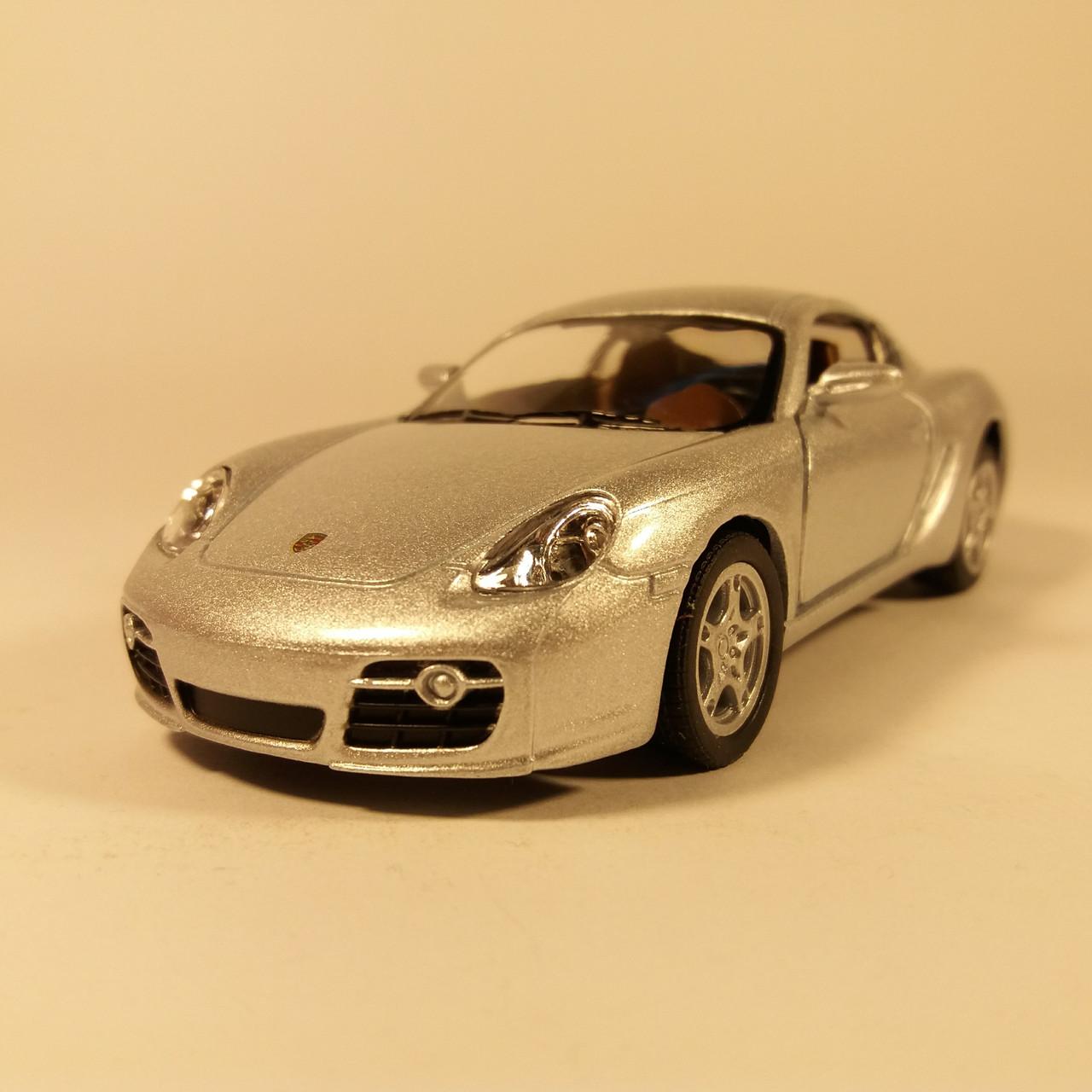 Автомобиль металлический KINSMART Porsche Cayman S KT5307W silver
