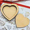 Высечка деревянная Сердце двойное 6,5*6,5см фанера