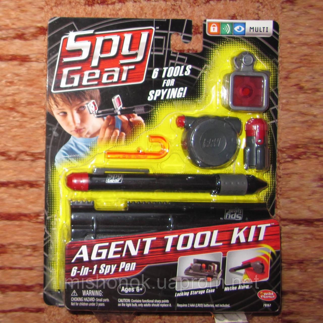 Шпионский набор пенал 6 в 1 SPY Gear на возраст 6+ подарок мальчику к окончанию учебного года