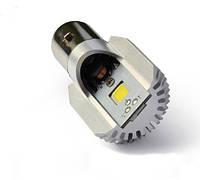 Мотолампа M2 LED H6, BA20D, COB, 9-80V, 6000K