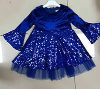 Платье нарядное в пайетки для девочек 1 2 3 4 5 6 лет