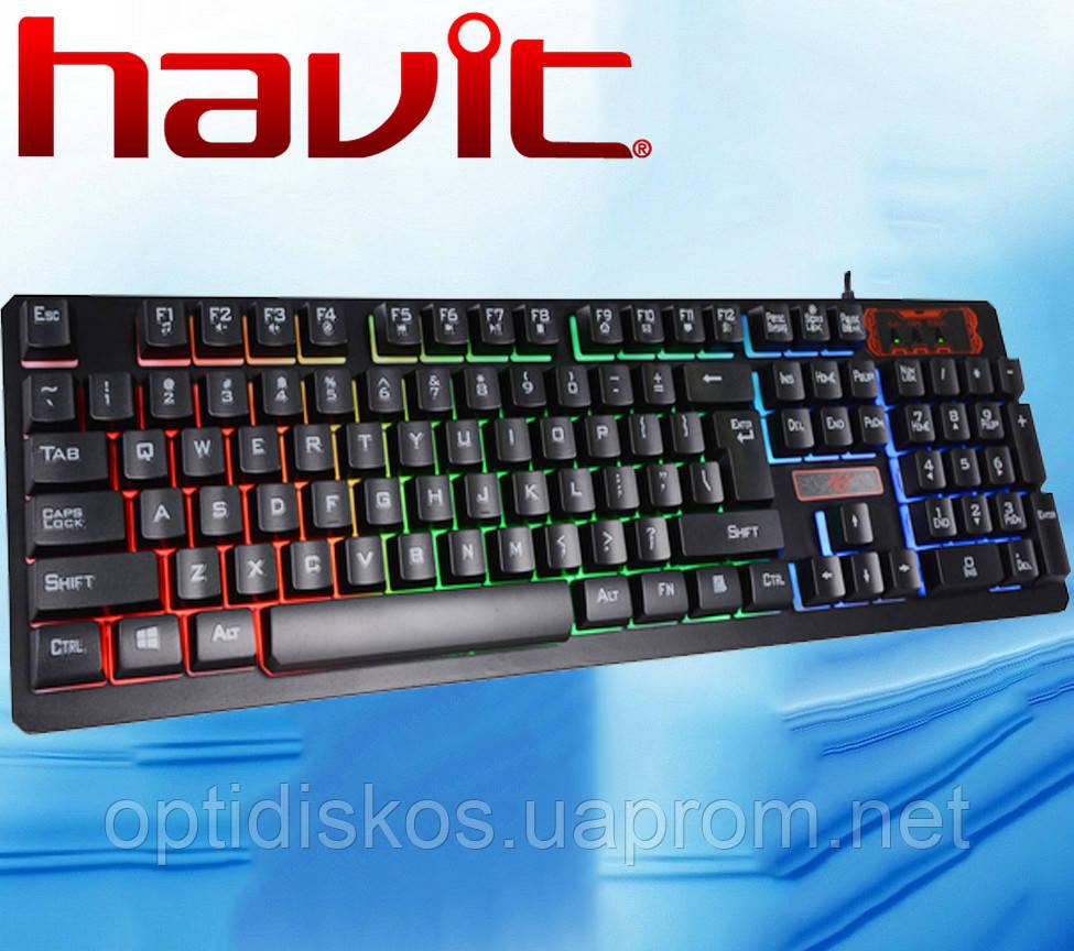 Клавиатура с подсветкой Havit  HV-KB421L, USB