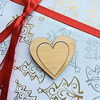 Высечка деревянная Сердце5 4*4см фанера, фото 1
