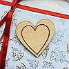 Высечка деревянная Сердце7 6,5*6,5см фанера