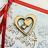 Высечка деревянная Сердце2 4,5*4,5см фанера