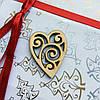 Высечка деревянная Сердце3 4,5*3,5см фанера