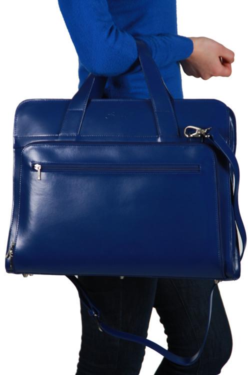 Шкіряна сумка на плече Sumdex She Rules SLN-062NV синя