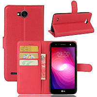 Чехол LG X Power 2 / M320 книжка PU-Кожа красный