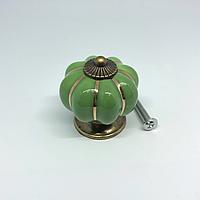 Ручка керамическая. Цвет зеленый. 38х37мм