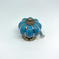 Ручка керамическая. Цвет голубой. 38х37мм