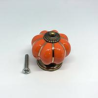 Ручка керамическая. Цвет орандж. 38х37мм