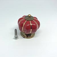 Ручка керамическая. Цвет красный. 38х37мм
