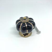 Ручка керамическая. Цвет черный. 38х37мм