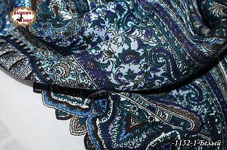 Павлопосадский шерстяной платок Восточная сказка, фото 3