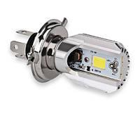 Мотолампа M2S LED H4, COB, 9-80V, 6000K