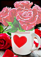 """Набор для вышивки чешским бисером """"Розы для любимой"""""""