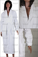 Халат махровый белый для гостиниц (400 гр/м²)