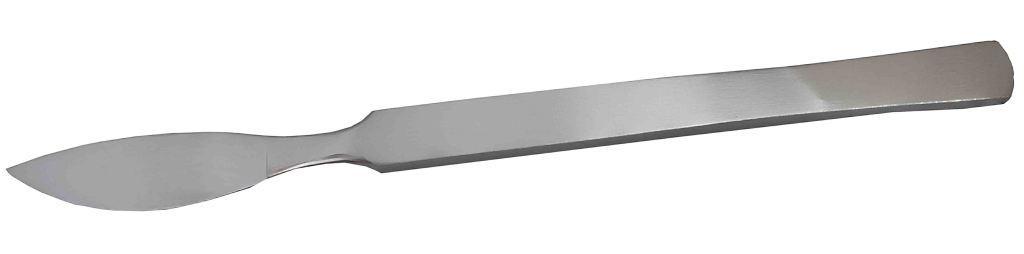 Скальпель брюшистый радиусный средний 15 cм