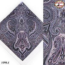 Белый павлопосадский платок без бахромы Золушка, фото 3