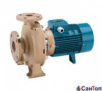 Центробежный насос для воды Calpeda B-NM 40/12C/A (1.5 кВт, напор max 17.5 м) моноблочный с фланцевыми раструбами (корпус из бронзы)