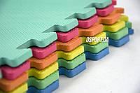 Детский игровой коврик-пазл (мат татами, ласточкин хвост) OSPORT толщина 8мм, 6шт. (М 2095)