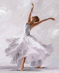 Раскраска по номерам Турбо Белый танец худ. МакНейл Ричард (VP791) 40 х 50 см