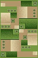 Ковер Фриз прямугольный зеленый 1х2
