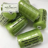 Нитки швейные 40/20 100 ярдов, салатовый цвет № N-1000-234