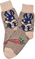 """Шерстяные носки женские """"Заяц"""""""