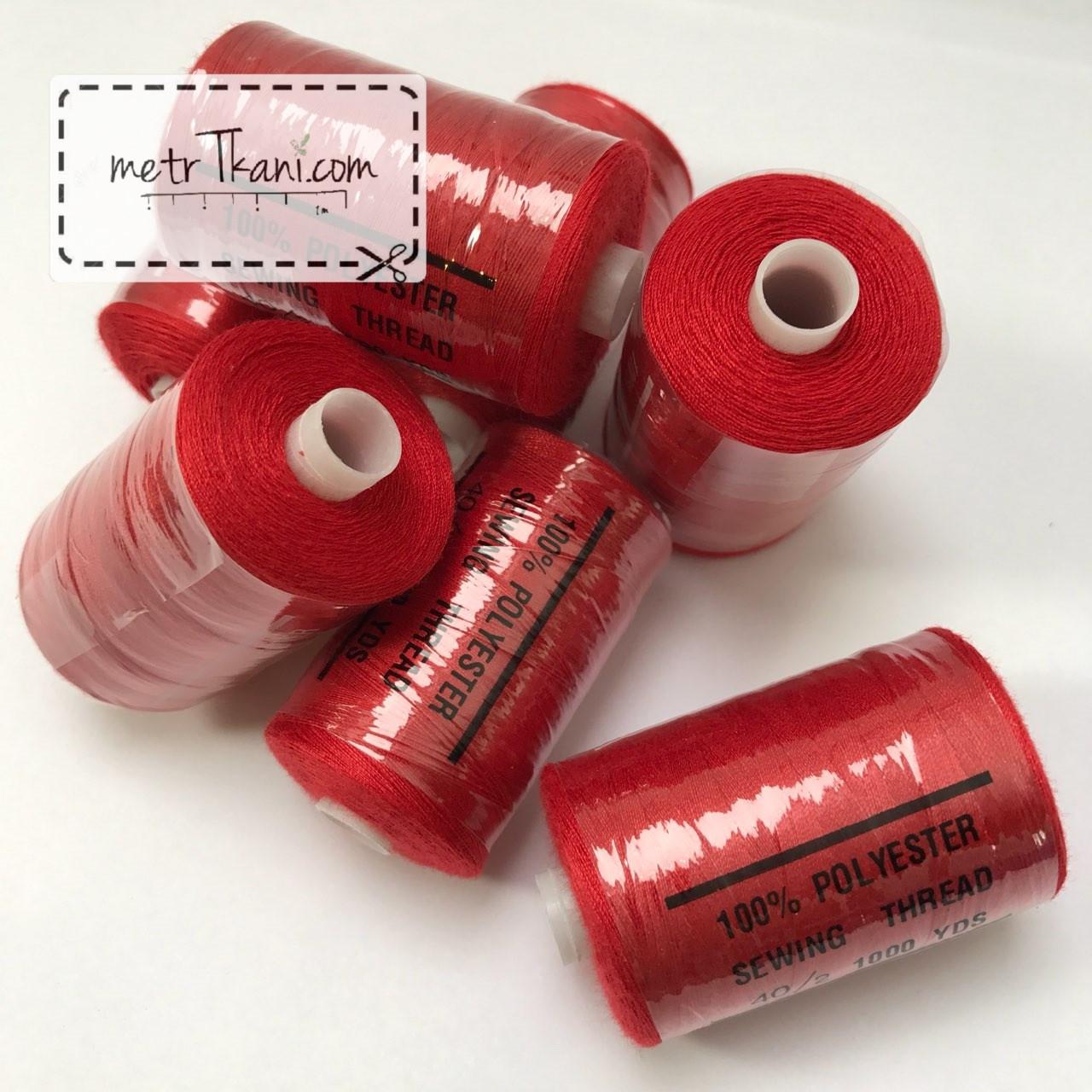 Нитки швейные 40/20 1000 ярдов, красного цвет № N-1000-162