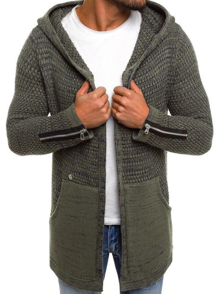 мужской вязаный кардиган хаки 051 продажа цена в днепре свитеры и