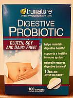Пищеварительный пробиотик, 10 миллиардов активных культур, 100 капсул TruNature