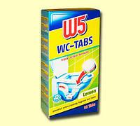 Таблетки для чистки и дезинфекции унитаза  W5  лимон 1 таблетка 8 грн