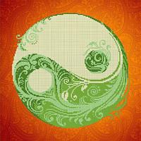 Рисунок (схема) на ткани для вышивания бисером