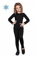 Детское термобелье для девочки футболка с длинным рукавом+штаны