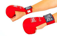 Перчатки для каратэ ELAST BO-3956-R (PU, р-р S-XL, красный, манжет на резинке)