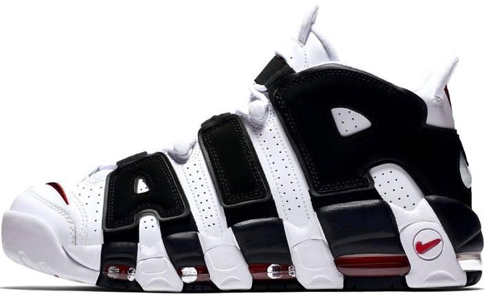 Женские и мужские кроссовки Nike Air More Uptempo White/Black, фото 2