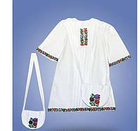 Красивое детское вышитое платье с сумочкой