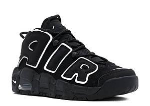 Мужские и женские кроссовки Nike Air More Uptempo Black/White, фото 3